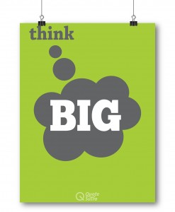 Motivational Poster Think Big Poster Motivational Quote Inspire