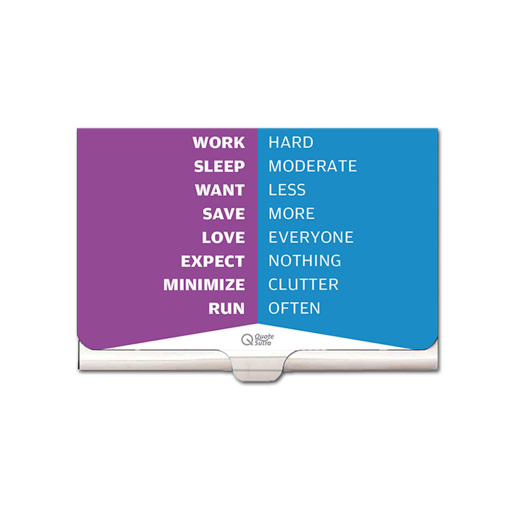 Set of 2 card holders to inspire motivate by quotesutra affirmation anniversary gift birthday gift business card holder card case card reheart Choice Image