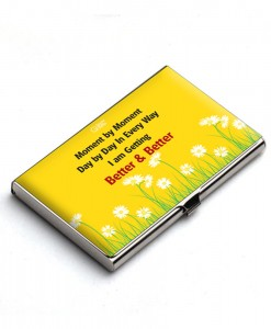 Moment by moment affirmation Card Holder