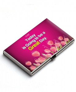 Today is going to be a great day affirmation card holder