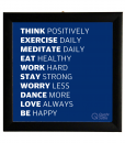 motivational frame poster Square Glass Frame Poster office home