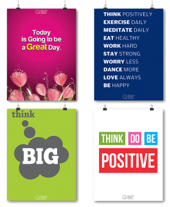 Poster set Positive thinking combo