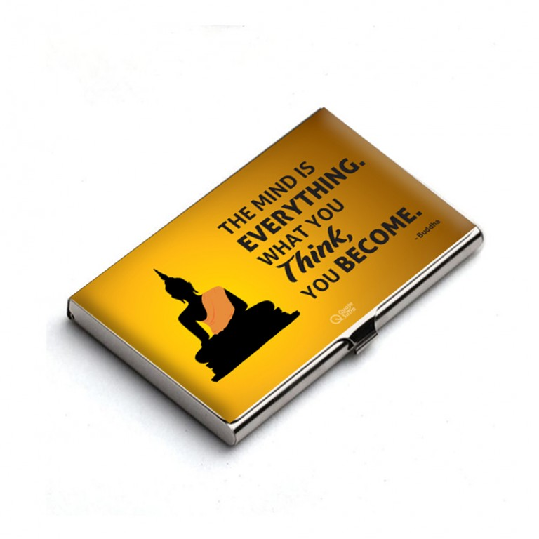 The mind is everything Card Holder