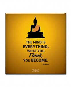 The mind is everything buddha quote Magnet
