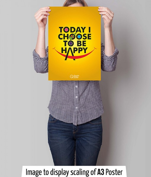 affirmation, poster, a3, a3 poster, wall art, decor, home decor, office decor, today i choose to be happy