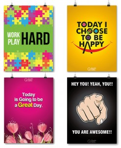 poster set to inspire your day
