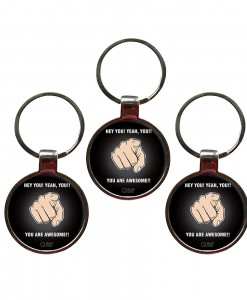 You are awesome set of 3 keychains website