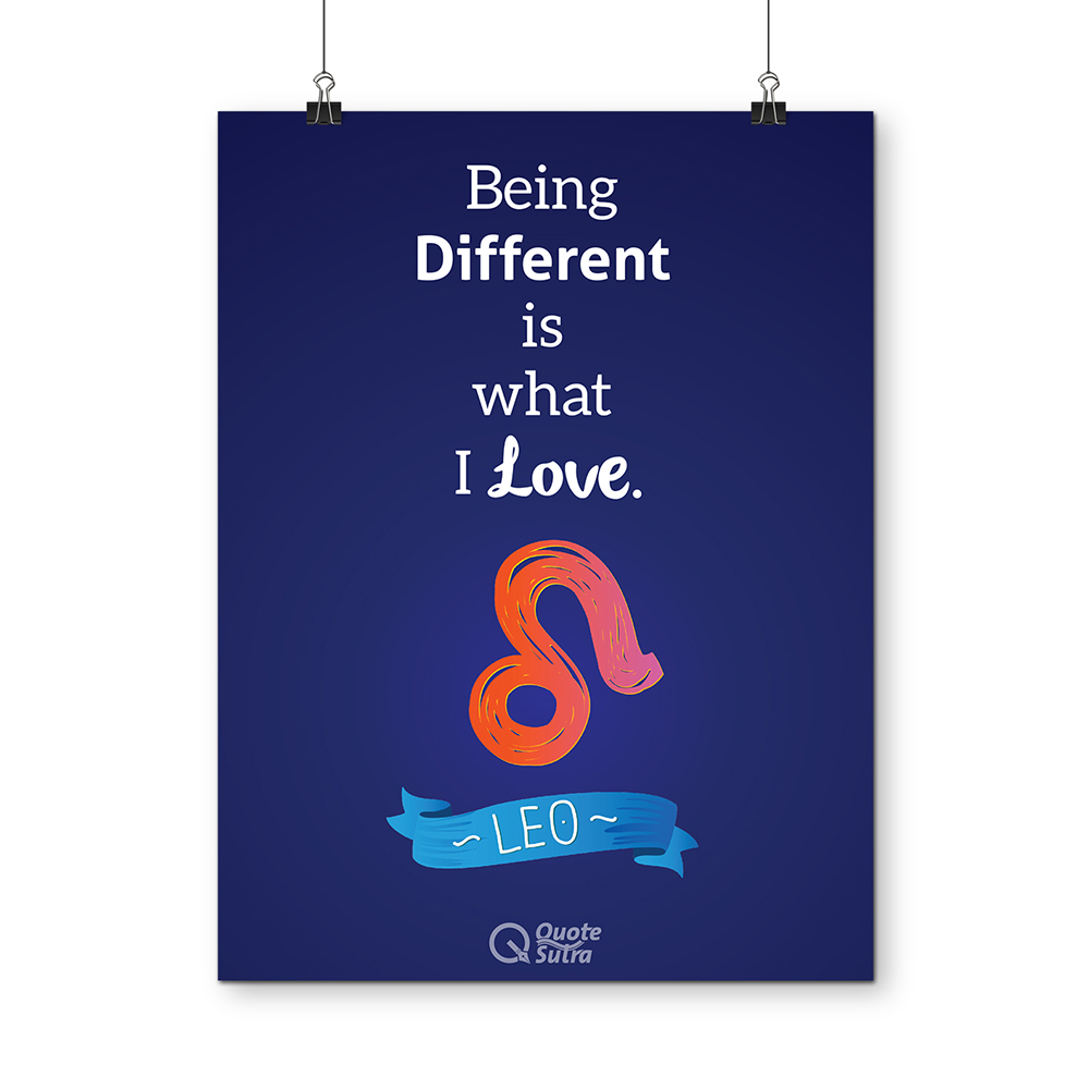 Leo Quote Poster By Quotesutra Quotesutracom