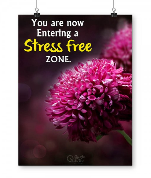 Stress Free Zone Poster