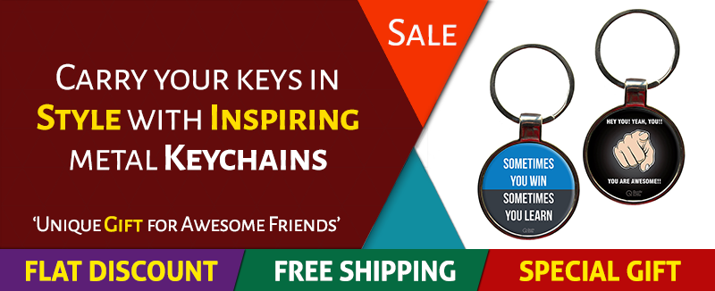 QuoteSutra Metal Quote Keychains